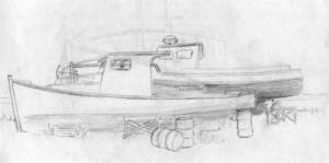 Boat sketch Parrsboro