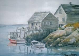 Fishing shacks